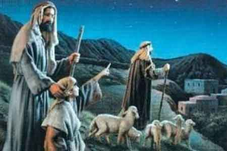 image of shepherds traveling to find Jesus