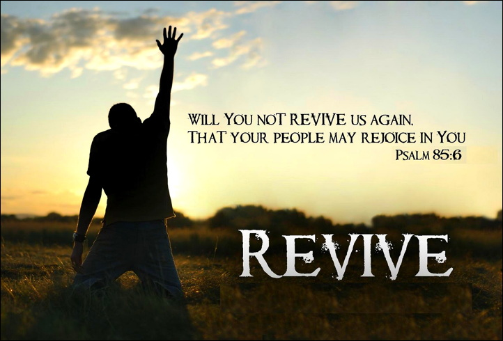 Revival quote from Psalm 85:6 in the Bible