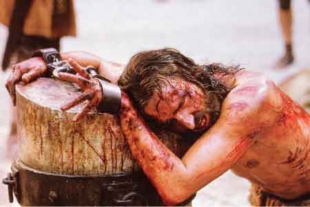 image of the blood of Jesus flowing when he was flogged