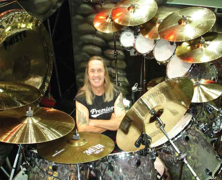 Nicko McBrain from Iron Maiden