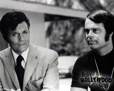 Bob with Jack Lord on Hawaii 5-O