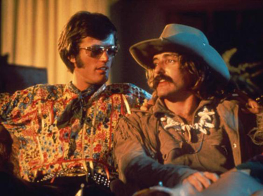 Peter Fonda with Dennis Hopper in Easy Rider
