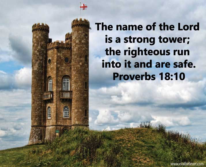 proverbs-18-10 from 15 empowering Bible verses about strength that will enrich your day, week, or year. You will love this slideshow.
